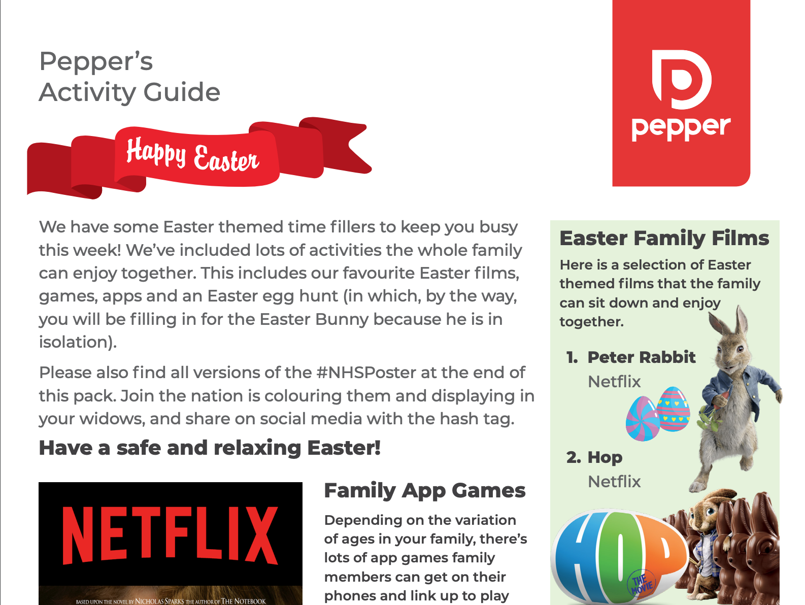 Easter activity guide